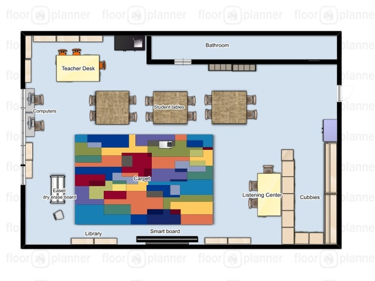 Digital Floor Plan Averie Negron S Student Teaching Portfolio